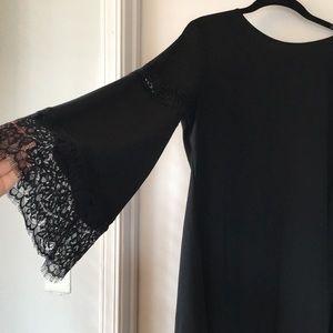 Mossimo EUC M black bell sleeve lace mini dress